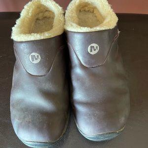 Merrell slip on clogs men size 9